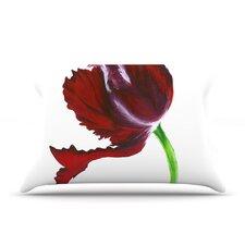 Dark Purple Tulip Pillow Case