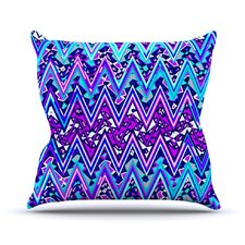 Electric Chevron Outdoor Throw Pillow