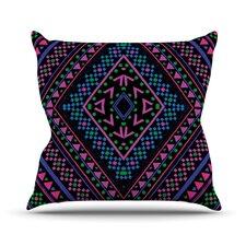 Neon Pattern Throw Pillow