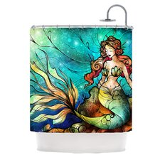 Serene Siren Shower Curtain