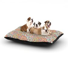 'My Happy Flowers in Red' Dog Bed