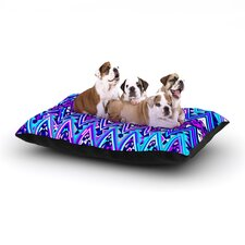 'Blue Electric Chevron' Dog Bed