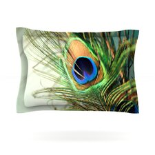 Teal Peacock Feather by Sylvia Cook Pillow Sham