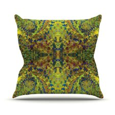 Yellow Jacket by Nikposium Abstract Throw Pillow