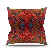 Red Sea Abstract Outdoor Throw Pillow