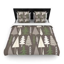 Happy Forest Brown Woven Duvet Cover