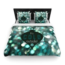 It's Cold Outside by Robin Dickinson Woven Duvet Cover