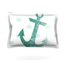 Glitter Anchor in Mint by Nika Martinez Cotton Pillow Sham