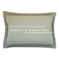 Simple Beautiful by Galaxy Eyes Pillow Sham