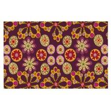 Indian Jewelry Floral Doormat