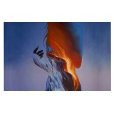 Volcano Girl Blue Doormat