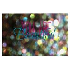 You Are Beautiful II Art Object Doormat