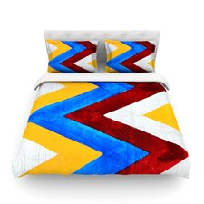 Zig Zag by Brittany Guarino Light Duvet Cover