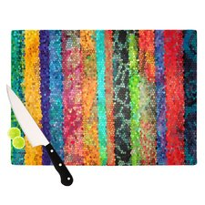 Stained Glass Batik Mosaic Stripe by Catherine Holcombe Cutting Board