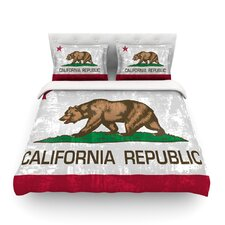 California Flag Wood by Bruce Stanfield Duvet Cover