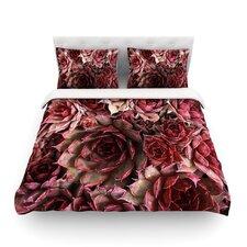 Red Succulents by Debbra Obertanec Light Duvet Cover