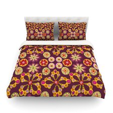 Indian Jewelry Floral by Jane Smith Light Duvet Cover