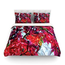 Bougainvillea by Mary Bateman Light Cotton Duvet Cover