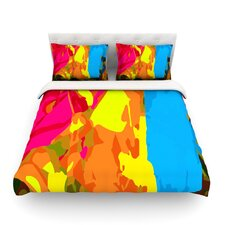 Colored Plastic Light by Matthias Hennig Duvet Cover