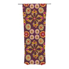 Indian Jewelry Floral Curtain Panels (Set of 2)