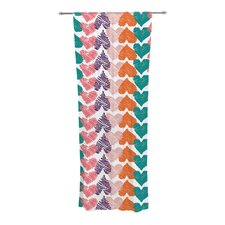 Hearts Curtain Panels (Set of 2)