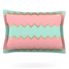 Avalon Soft Coral and Mint Chevron by Monika Strigel Cotton Pillow Sham