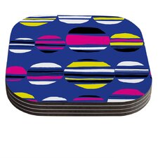 Retro Circles by Emine Ortega Coaster (Set of 4)