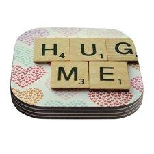 Hug Me by Cristina Mitchell Coaster (Set of 4)