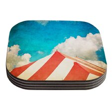 The Big Top by Ann Barnes Coaster (Set of 4)
