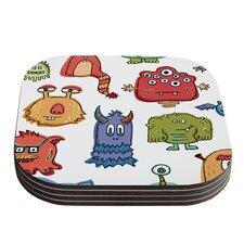 Little Monsters by Brienne Jepkema Coaster (Set of 4)