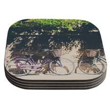 Pretty Bicycles by Laura Evans Coaster (Set of 4)