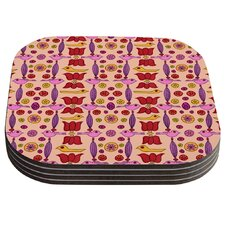Indian Jewelry Repeat by Jane Smith Coaster (Set of 4)