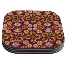 Indian Jewelry Floral by Jane Smith Coaster (Set of 4)