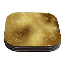 Golden Radiance by Snap Studio Yellow Coaster (Set of 4)