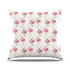 Cross Stitch Flowers by Laura Escalante Throw Pillow