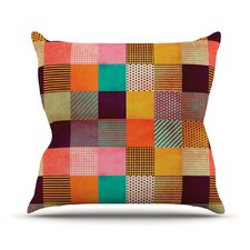 Decorative Pixel by Louise Machado Warm Patches Throw Pillow