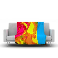 Colored Plastic by Matthias Hennig Micro Throw Blanket