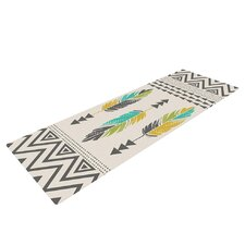Painted Feathers by Amanda Lane Yoga Mat