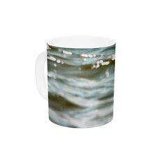 Turquoise by Debbra Obertanec 11 oz. Green Water Ceramic Coffee Mug