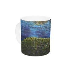 Manatees by David Joyner 11 oz. Green Ceramic Coffee Mug