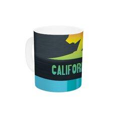 California by Fimbis 11 oz. Multicolor Ceramic Coffee Mug