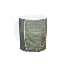 Whale by Bri Buckley 11 oz. Green Ceramic Coffee Mug