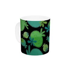 Garden Pods by Jane Smith 11 oz. Green Ceramic Coffee Mug