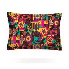 Arabesque Floral by Louise Machado Bright Colorful Woven Sham
