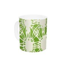 Drawnwork by Laura Nicholson 11 oz. Green Ceramic Coffee Mug
