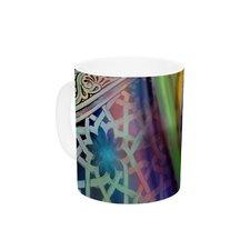 Arabesque Tulip by S. Seema Z 11 oz. Green Ceramic Coffee Mug