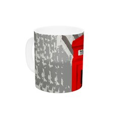 London by Oriana Cordero 11 oz. Red Ceramic Coffee Mug