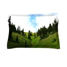 Going to the Mountains by Robin Dickinson Green Cotton Pillow Sham