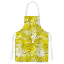 Marbleized In by Anneline Sophia Yellow Artistic Apron