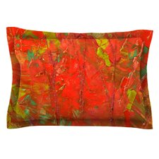 Crimson Forest by Jeff Ferst Green Cotton Pillow Sham